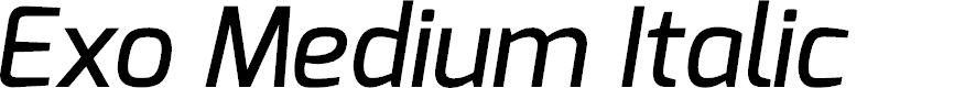 Preview image for Exo Medium Italic