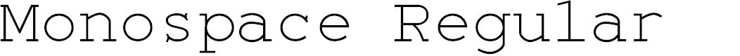 Preview image for Monospace Regular Font