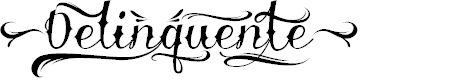 Preview image for Delinquente Demo Font