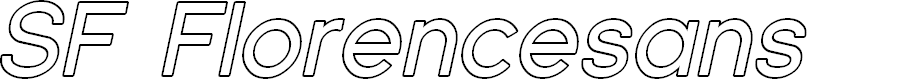 Preview image for SF Florencesans Outline Italic