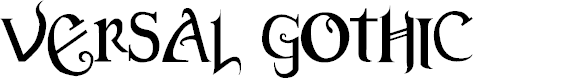 Preview image for Versal Gothic Font