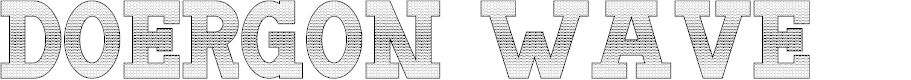 Preview image for Doergon Wave Font