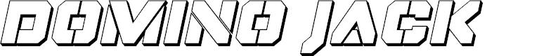 Preview image for Domino Jack 3D Italic Italic