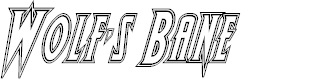 Preview image for Wolf's Bane Engraved Italic