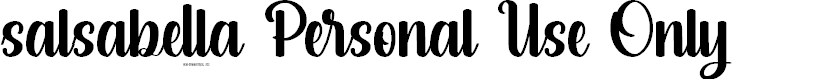 Preview image for salsabella Personal Use Only Font