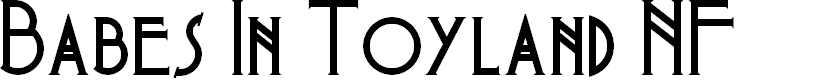 Preview image for Babes In Toyland NF Font