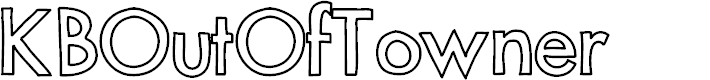 Preview image for KBOutOfTowner Font