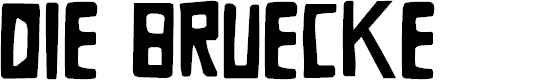 Preview image for DKDieBruecke Font