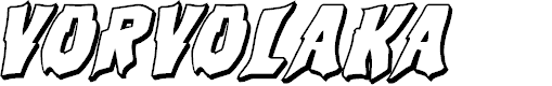 Preview image for Vorvolaka 3D Italic