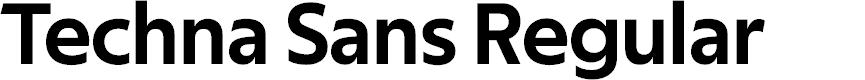 Preview image for Techna Sans Regular Font