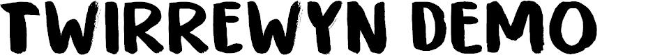 Preview image for Twirrewyn DEMO Regular Font