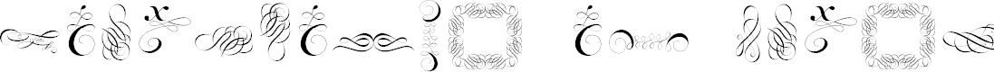 Preview image for Cornucopia of Ornaments Font