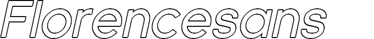 Preview image for Florencesans Outline Italic
