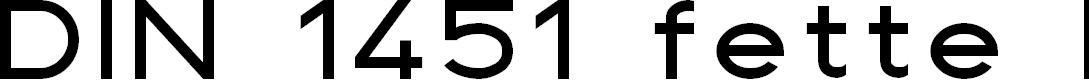 Preview image for DIN 1451 fette Breitschrift 1936 Font