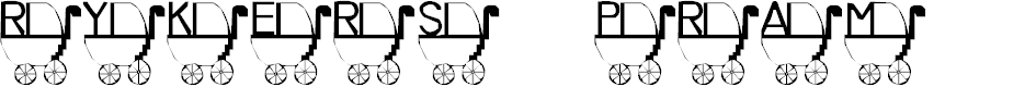 Preview image for LMS Rykers Pram Font