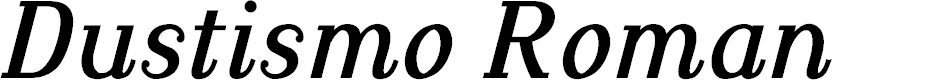 Preview image for Dustismo Roman Bold Italic