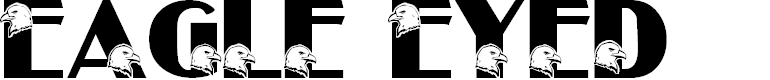 Preview image for LMS Eagle Eyed Font