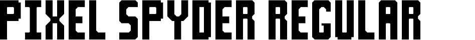 Preview image for Pixel Spyder Regular Font