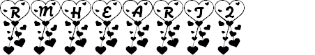 Preview image for RMHeart2 Font