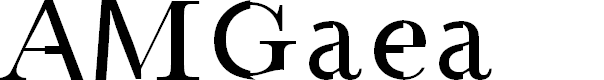 Preview image for AMGaea Font