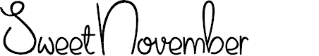 Preview image for Sweet November Font