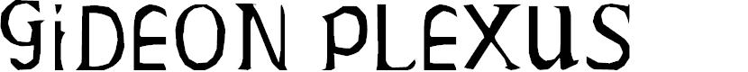 Preview image for Gideon Plexus  Font
