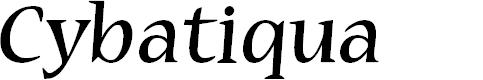 Preview image for Cybatiqua Font