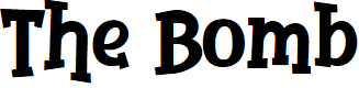 Preview image for The Bomb Font