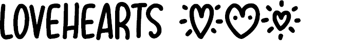 Preview image for Lovehearts XYZ Font