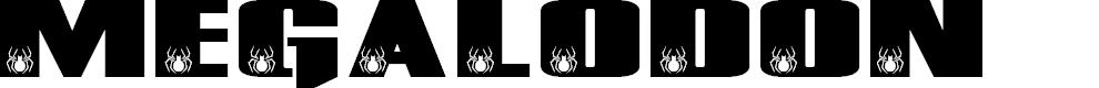 Preview image for MEGALODON Font