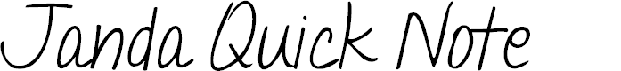 Preview image for Janda Quick Note Font