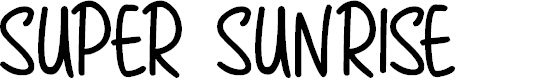 Preview image for Super Sunrise Font