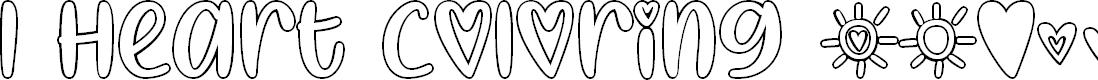 Preview image for I Heart Coloring Regular Font