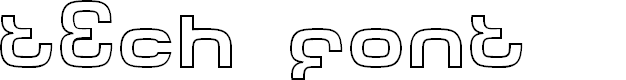 Preview image for Tech Font Outline