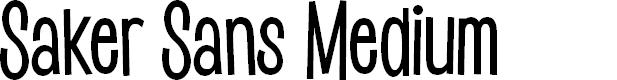 Preview image for Saker Sans Medium PERSONAL USE Font