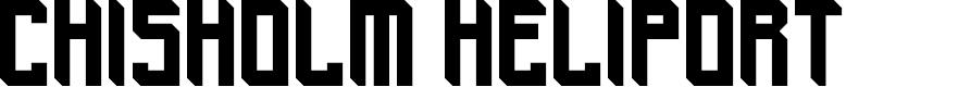 Preview image for Chisholm Heliport Regular Font