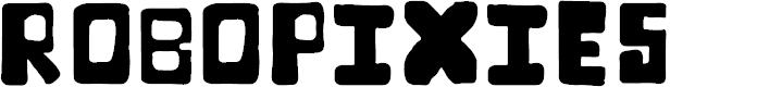 Preview image for RoboPixies Font