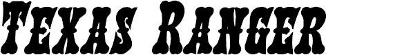 Preview image for Texas Ranger Bold Italic