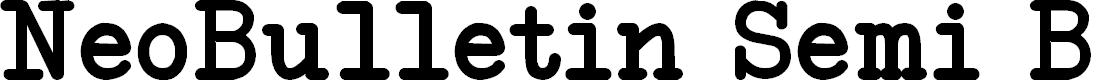 Preview image for NeoBulletin Semi Bold Font