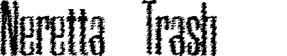 Preview image for Neretta Trash Font