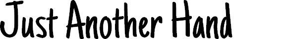 Preview image for Just Another Hand Font