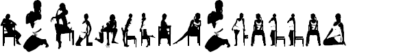Preview image for WomanSilhouettes Font