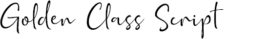 Preview image for Golden Class Script Font