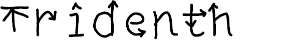 Preview image for Tridenth Font