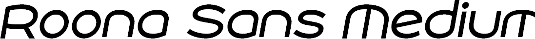 Preview image for Roona Sans Medium PERSONAL Italic