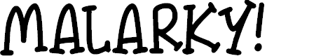 Preview image for Malarky Font