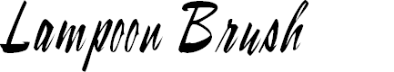 Preview image for LampoonBrush2 Brush2:001.001 Font