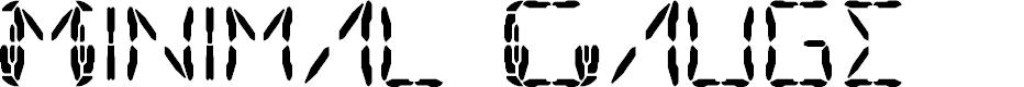 Preview image for Minimal Gauge Font