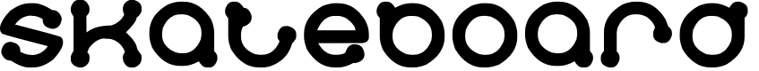 Preview image for skateboard Font