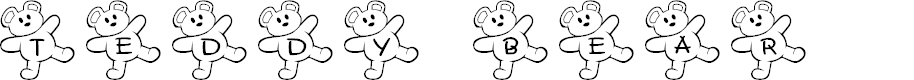 Preview image for JLR Teddy Bear Font